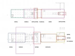 kantoorgebouw functies plattegrond